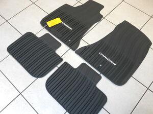 black rubber slush floor mats 2011-2017 dodge charger - brand new