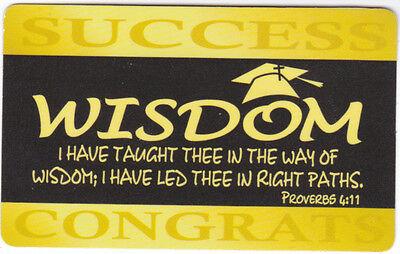 LOT 10 Graduation Pocket Prayer Cards, Christian Bible Scripture Proverbs  4:11