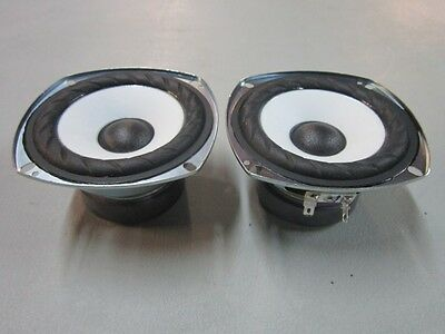 """NEW (2) SONY 4"""" Woofer Speakers.Replacement Pair.8 ohm.four inch pin cushion."""