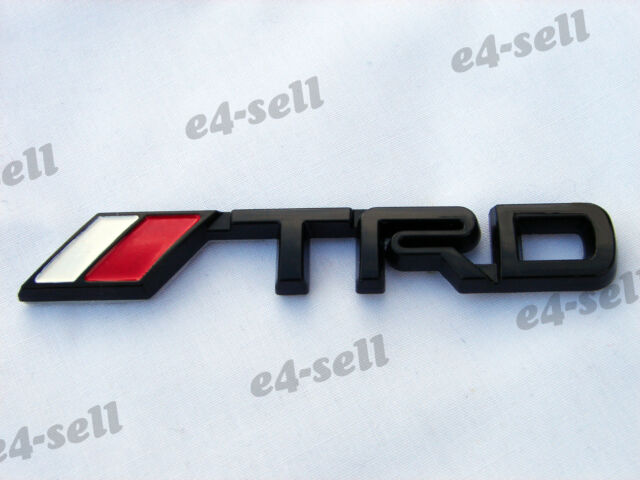3D Small TRD Black Badge JDM Emblem Tacoma Tundr Venza Celica Trunk Rear