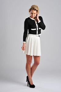 Womens-Button-Through-Contrast-Trim-2-Pocket-Tunic-Jacket-Ladies-Brand-New
