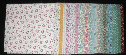 "40 Pieces for Quilt Blocks 1930 REPRODUCTION FABRIC 5/"" CHARM SQUARES  20 Prints"