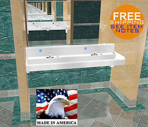 Ada Multi Station 2 Users Hand Wash Sink Electronic Faucet