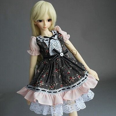 148# Pink Flower Floral Print Dress/Suit/Outfit 1/4 MSD AOD DOD BJD Dollfie