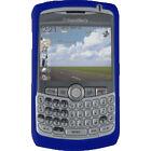 BlackBerry OEM Dark Navy Pearl Blue Silicone Rubber Gel Skin Case for Curve 8300 8310 8320 8330 - Verizon, Sprint, AT&T, TMobile (HDW13840011)