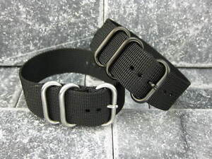 New-18mm-Black-Nylon-Diver-Strap-3-Rings-Watch-Band-Military-ZULU-Maratac-18