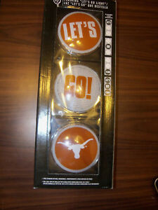 Texas-Longhorns-Tailgate-Let-039-s-Go-Flashing-Light-NIP