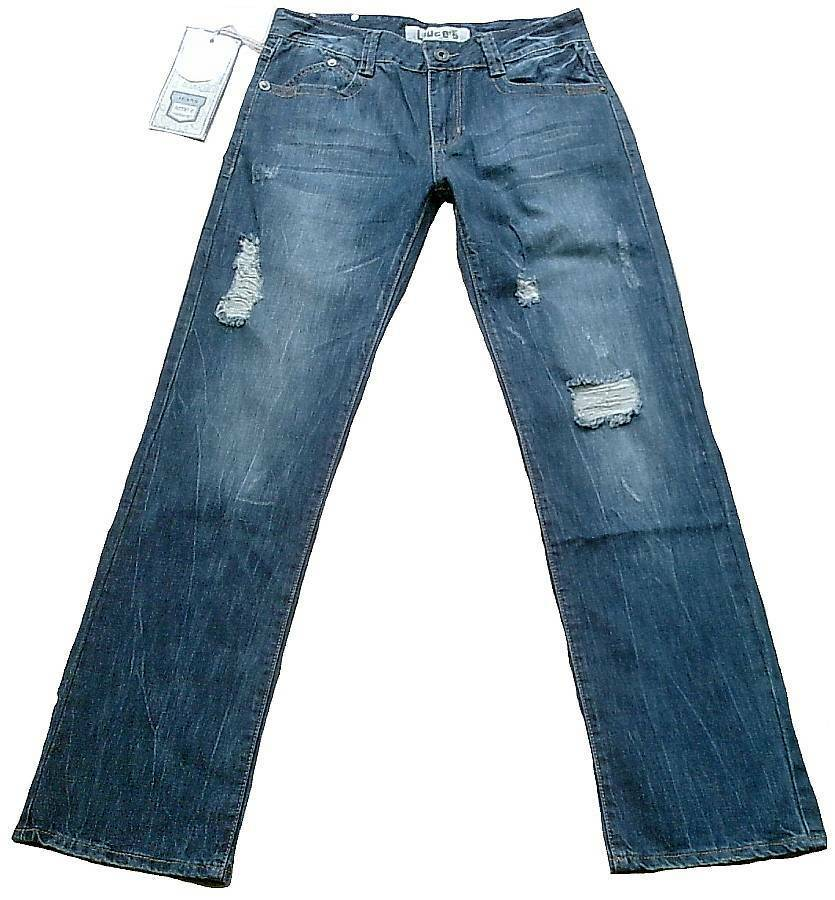 Coole LIUCE'S Stonewash Geile Waschung Detroyed Löcher JEANS W31 L34 31 34