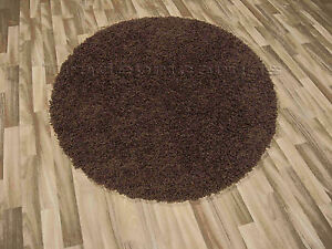 LARGE-ROUND-CIRCULAR-THICK-CHOCOLATE-BROWN-SHAGGY-RUG