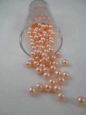 200 Wachsperlen 6mm z. fädeln, basteln, Schmuck Perlen Kunststoff Kugel Perle
