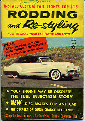 Rodding Und Neugestaltung Zeitschrift Vtg May 1956 Hot Rod Drag Race Hopfen Up Diversified Latest Designs Accessoires & Fanartikel