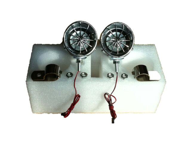 """100 watt 3"""" Harley motorcycle marine speakers chrome handlebar speakers"""