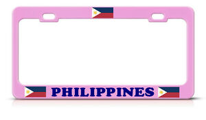 image is loading philippines flag pink girly metal license plate frame