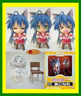 "ANIME Lucky Star Nendoroid 27# Konata Izumi 4"" Figure Face Chageable Gift toy"