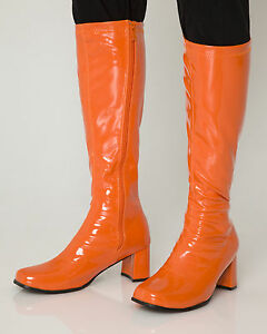 Seventies Lackstiefel orange - orange