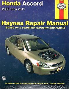 2003 2011 haynes honda accord repair manual ebay. Black Bedroom Furniture Sets. Home Design Ideas