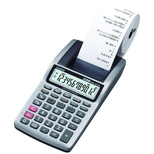 Printing Calculator Casio HR-8TM Plus Desktop Business 12 X 4 inch