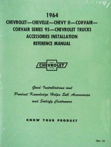 1964-Chevy-Accessory-Installation-Manual-64-NEW-Guide
