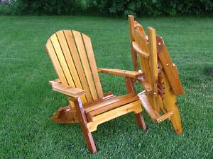 amish made folding adirondack chair | ebay