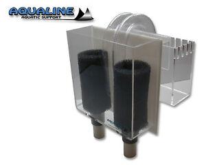 AQUARIUM-DUAL-OVERFLOW-BOX-4-NON-DRILLED-TANKS-WET-DRY-FILTERS-1100-GPH