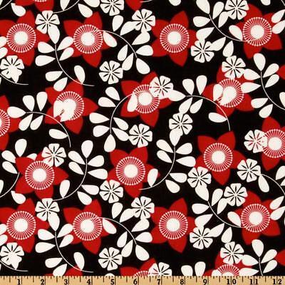 Springs Creative ~ Saroya Star Flowers ~Red Black White