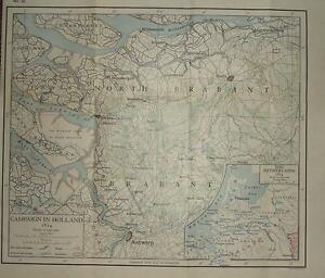MAP/BATTLE PLAN ~ CAMPAIGN IN HOLLAND 1814 ~ THE NETHERLANDS NAPOLEONIC WARS