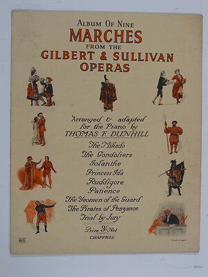 piano GILBERT & SULLIVAN 9 marches , arr thomas dunhill