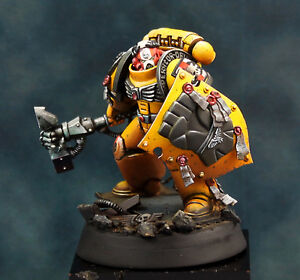 Warhammer-40K-Truescale-Imperial-Fist-Space-Marine-Painted-for-Charity