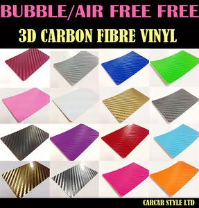 3D-Carbon-Fibre-Vinyl-Wrap-Film-Sheet-Sticker-Textured-Air-Bubble-free-MultiSize