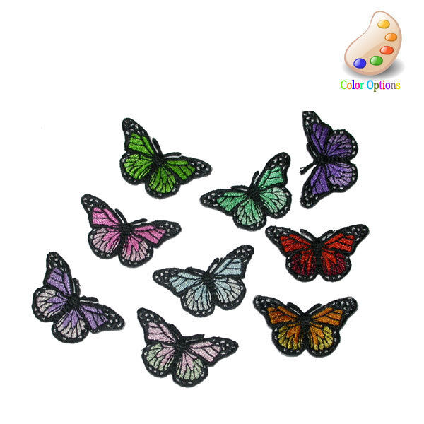 Iron On Applique - Monarch Butterfly Small 5 Pack