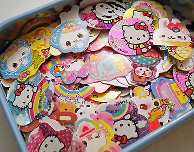 Kawaii Grab Bag - Sticker Flakes, Memo Sheets Hello Kitty Rilakkuma San-x Sanrio