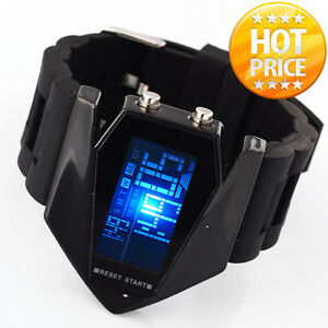 HI-tech-LCD-Blue-Light-Digital-Sport-Quartz-Wrist-Watch-Men-BLACK-RUBBER-ClOCK