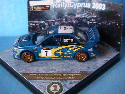 SUBARU IMPREZA WRC03  7 SOLBERG MILLS RALLY CYPRUS 2003 VITESSE 43100 1 43