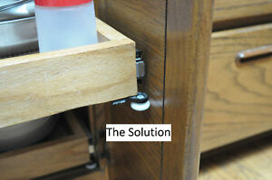 Image Is Loading Kitchen Cabinet Slide Out Shelving Door Protector