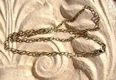 "Antique Brass Steel Stamped Rolo Chain Necklace, 16"" to 50"", 1 Qty"