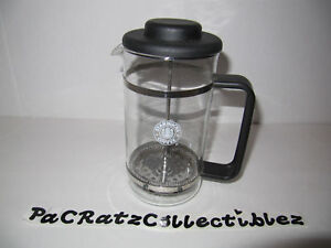 STARBUCKS Vintage OLD Split Tail Siren LOGO Glass French COFFEE PRESS Maker eBay