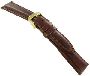 16mm-Speidel-Water-Resistant-Royal-English-Leather-Stitched-Tan-Watch-Band