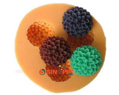 New 3D flower ball shape Silicone chocolate Soap Molds
