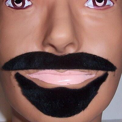 Black Arabian Mustache Beard Halloween Costume Fake Fur Moustache Party