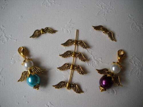 100 metal perlas ala de ángel ala de ángel ala de ángel plata oro
