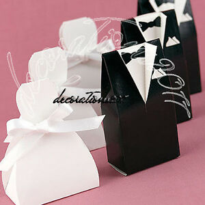 Tuxedo Wedding Dress Gown Favor Boxes Gift Boxes 21