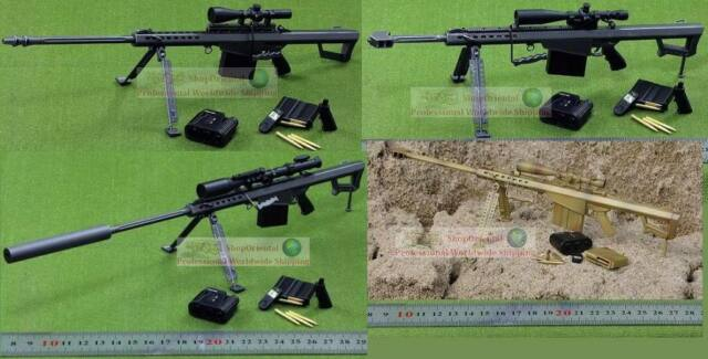 1:6 Scale Action Figure BARRETT M82A1-M M107  50 Sniper RIFLE GUN M82  M82_Set4