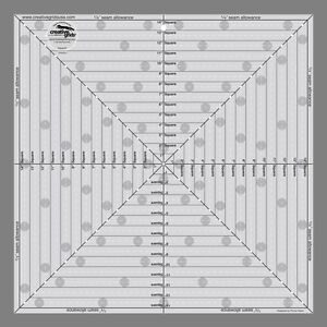 14-5-034-SQUARE-IT-UP-amp-FUSSY-CUT-Creative-Grids-NEW-QUILT-RULER-Center-Trim-Blocks