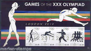 ANTIGUA LONDON 2012 OLYMPIC GAMES TRACK MARTIAL ARTS IMPERFORATED SHEET NH