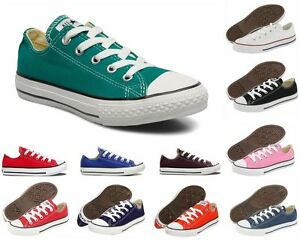 NEW-Girls-Boys-Converse-CT-All-Star-Ox-Canvas-Trainers-Twelve-12-Colours-UK-11-2