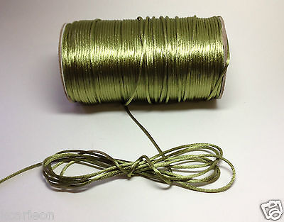 2mm Rattail Cord Chinese/China Knot Rat-Tail Jewelry Braid U-Pick BTY & Colors