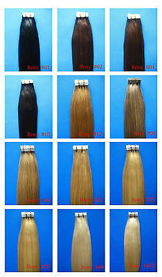"""Seamless Tape Skin 100% Real Human Hair Extensions Straight 16""""-26 inch 20 piece"""