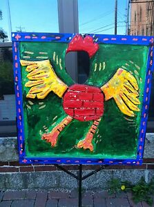 Outsider-Art-by-Michael-D-Hurley-034-BRICK-CHICKEN-034