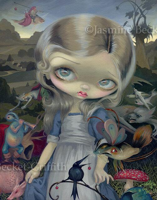 Alice in a Bosch Wonderland Jasmine Becket-Griffith CANVAS PRINT lowbrow gothic