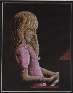 In-The-Spotlight-Cross-Stitch-Chart-Pattern-Girl-Playing-Piano